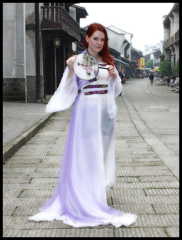 Me wearing Hanfu in Changsha, Hunan